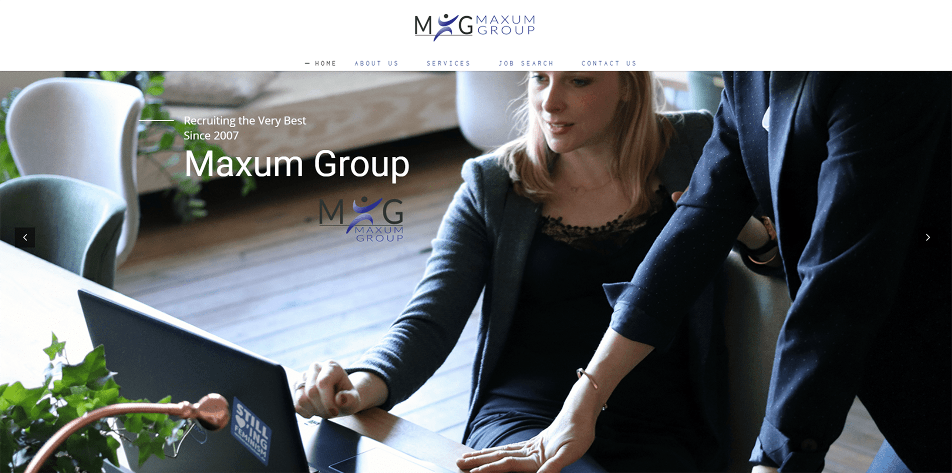Maxum Group - Omaha website portfolio